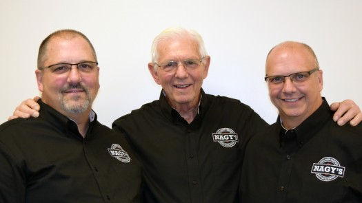 Dave (middle) father of Ron (right) and Dan (left), is also the founder of Nagy's.