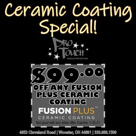 $99.00 Off Xpel Fusion Plus Ceramic Coatings, Limited Time Only