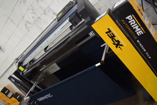 At Pro Touch we us a Plotter Machine to Pre-Cut our Paint Protective Films & Window Tinting Products.