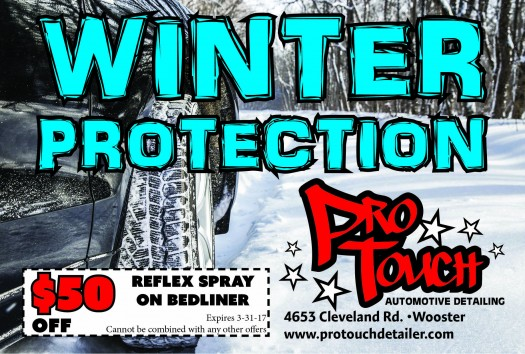 Protect your vehicle this winter at ProTouch Autmotive Detailing in Wooster Ohio!