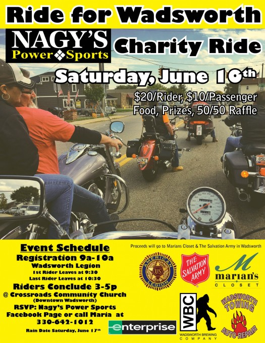 Ride for Wadsworth Charity Motorcycle Ride