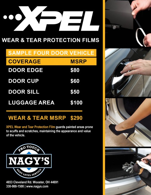 Nagy's Pro Touch in Wooster is now offering Xpel Paint Protection Films