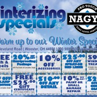 Warm up to our Winter Specials at Nagy's Pro Touch. Stop by or give us a call at 330-988-1500.