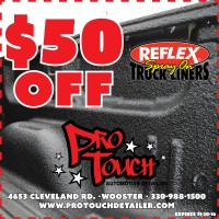 $50 off Reflex Spray on Truck Liners now through November 30th.