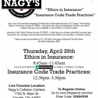 Nagy's Collision Centers in Orrville is set to Host LIVE CE Courses for Insurance Agents in April 2018