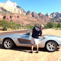 Customer Ray Landis And His 1958 Corvette At Zion National Park, Utah