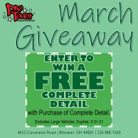 March Detail Giveaway-Enter to Win a Free Complete Detail when you purchase a Complete Detail March 1st-March 31st.