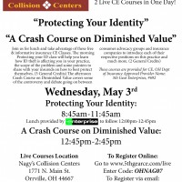 Nagy's Collision Centers will be hosting 2 LIVE CE courses on Wednesday May 3rd