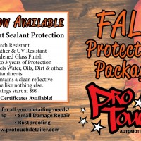 Check out the Fall Protection Package at ProTouch Automotive Detailing 4653 Cleveland Rd. Wooster, OH 44691