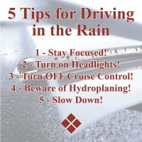 Always use caution while driving in the Rain!