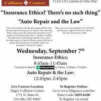 Nagy's Collision Centers are hosting a Live CE Class this September.