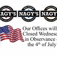 Nagy's Offices are Closed Wednesday, July 4th 2018