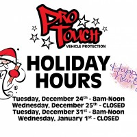 2019 Holiday Hours for Pro Touch
